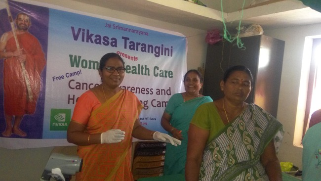 Cancer Awareness and Detection Camp at Kondapalli A free service for the welfare of women
