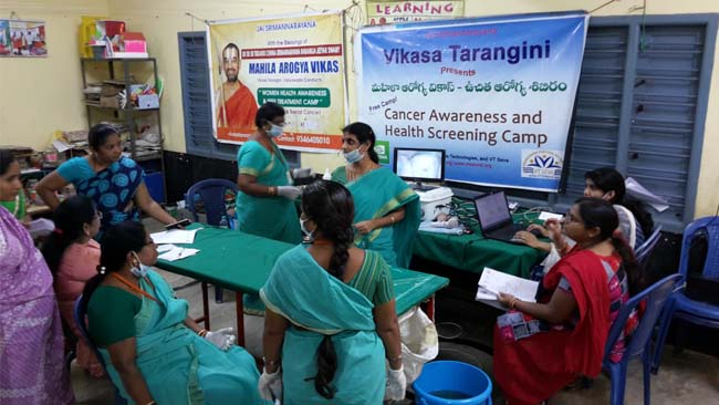 Central Mahila Arogya Vikas Team Conducted Medical Camps Bengaluru