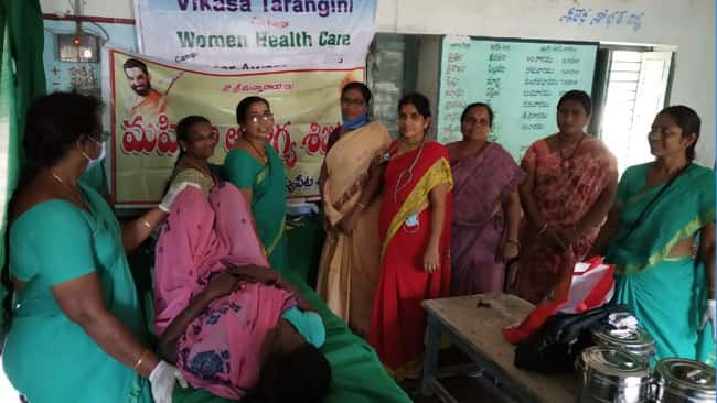 Women Health Care Conducted Cancer wareness and Detection Camp at Jaggaiahpeta