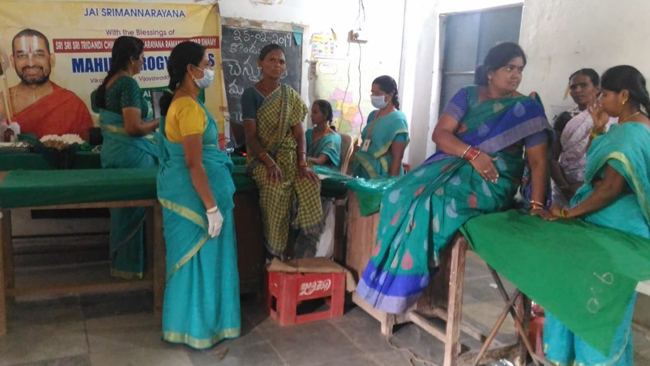 600 Women Screened Women health care camp conducted at Mancherial