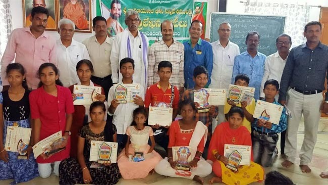 Ramayana drawing competitions were conducted across many centers